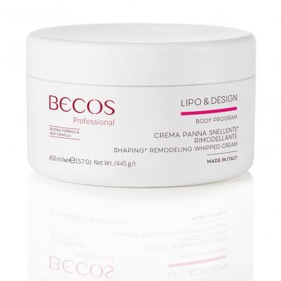 LIPO & DESIGN Crema Panna Snellente Rimodellante Professional ml 450