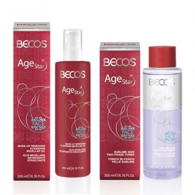 AGE STAR- Olio Micellare Detergente Struccante + Tonico Bi-Fasico