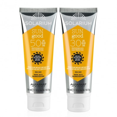 SOLARIUM Creme Viso SPF50 + SPF30 Anti-Age Antimacchia