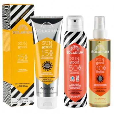 SOLARIUM Crema SPF15 + Olio SPF30 + Spray SPF50 Protezione Viso & Corpo